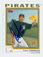 Yoann Torrealba AUTOGRAPH 2004 Topps Pirates 