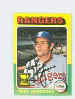 Mike Hargrove AUTOGRAPH 1975 Topps Mini #106 Rangers 