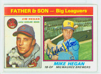 Mike Hegan AUTOGRAPH d.13 1976 Topps #69 Father Son   [SKU:HegaM1563_T76BBC1LX]