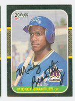 Mickey Brantley AUTOGRAPH 1987 Donruss Mariners 