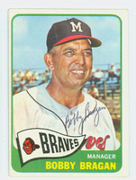 Bobby Bragan AUTOGRAPH d.10 1965 Topps #346 Braves Card is clean EX