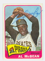 Al McBean AUTOGRAPH 1965 Topps #25 Pirates Card is Vg/Ex; crn ding