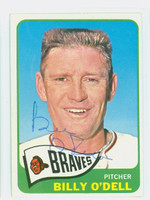 Billy O' Dell AUTOGRAPH d.18 1965 Topps #476 Braves Card is G/VG; lt bend, auto clean  [SKU:ODelB1849_T65BBVKjl]