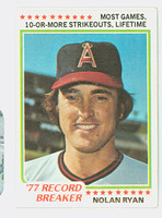 1978 Topps Baseball 6 Nolan Ryan HL California Angels Excellent