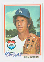 1978 Topps Baseball 310 Don Sutton Los Angeles Dodgers Near-Mint Plus
