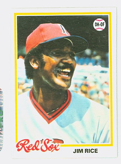 1978 Topps Baseball 670 Jim Rice Boston Red Sox Excellent