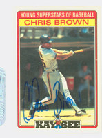 Chris Brown AUTOGRAPH d.06 Kay-Bee Giants 