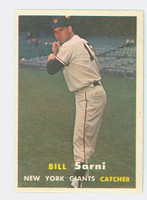 1957 Topps Baseball 86 Bill Sarni New York Giants Excellent to Mint