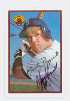 Marty Barrett AUTOGRAPH 1989 Bowman Red Sox 
