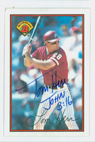 Tom Herr AUTOGRAPH 1989 Bowman Phillies 
