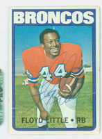 Floyd Little AUTOGRAPH 1972 Topps Football #50 Broncos 