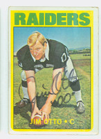 Jim Otto AUTOGRAPH 1972 Topps Football #86 Raiders 