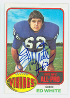Ed White AUTOGRAPH 1976 Topps Football Vikings 