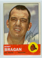 Bobby Bragan AUTOGRAPH d.10 1963 Topps Braves  - PSA Pre-Certified Auction Lot 
