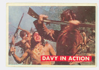 1956 Davy Crockett Green 14 Davy In Action Good to Very Good