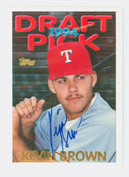 Kevin Brown AUTOGRAPH 1995 Topps 1994 Draft Pick Rangers 
