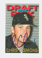 Chris Clemons AUTOGRAPH 1995 Topps 1994 Draft Pick White Sox 