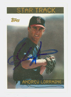 Andrew Lorraine AUTOGRAPH 1995 Topps Star Track Angels 