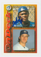Angel Martinez AUTOGRAPH 1995 Topps On Deck Blue Jays 