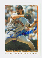 Terry Mulholland AUTOGRAPH 1995 Topps Traded Giants 