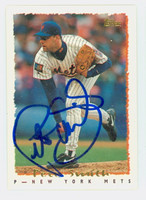 Pete Smith AUTOGRAPH 1995 Topps Mets 