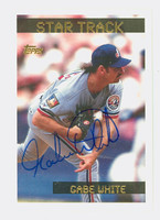Gabe White AUTOGRAPH 1995 Topps Star Track Expos 