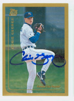 Chris George AUTOGRAPH 1999 Topps Royals 