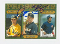 Russ Johnson AUTOGRAPH 1997 Topps Prospects Astros 