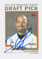 David Aardsma AUTOGRAPH 2004 Topps 2003 Draft Pick Giants 