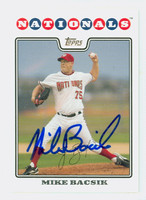 Mike Bacsik AUTOGRAPH 2008 Topps Nationals 