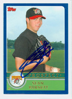 Sean Burnett AUTOGRAPH 2003 Topps Pirates 