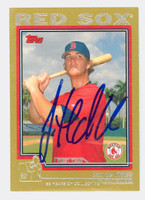 Jon De Vries AUTOGRAPH 2004 Topps Traded Gold Red Sox 