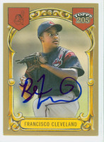 Ben Francisco AUTOGRAPH 2003 Topps T205 Gold Border Indians 