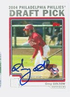 Greg Golson AUTOGRAPH 2004 Topps Traded 2004 Draft Pick Phillies 