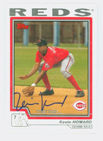 Kevin Howard AUTOGRAPH 2004 Topps Traded Reds 