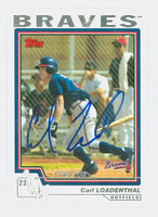 Carl Loadenthal AUTOGRAPH 2004 Topps Traded Braves 