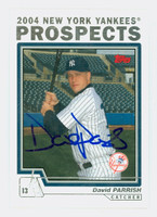 David Parrish AUTOGRAPH 2004 Topps Traded 2004 Prospects Yankees 