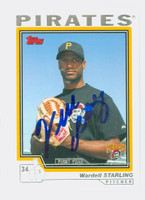 Wardell Starling AUTOGRAPH 2004 Topps Traded Pirates 
