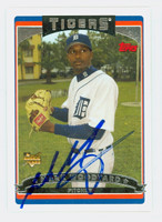 Mark Woodyard AUTOGRAPH 2006 Topps Tigers 