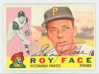 Roy Face AUTOGRAPH 1960 Topps #20 Pirates CARD IS VG/EX, CLEAN SIG