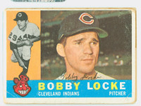 Bobby Locke AUTOGRAPH 1960 Topps #44 Indians CARD IS F/G; AUTO CLEAN