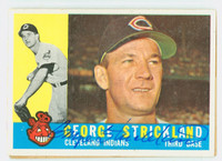 George Strickland AUTOGRAPH d.10 1960 Topps #63 Indians CARD IS VG, CLEAN SIG  [SKU:StriG139_T60BBL2]