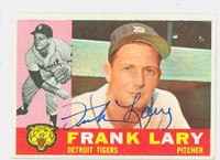 Frank Lary AUTOGRAPH 1960 Topps #85 Tigers CARD IS VG/EX