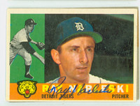Ray Narleski AUTOGRAPH d.12 1960 Topps #161 Tigers CARD IS VG/EX