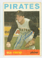 Bob Friend AUTOGRAPH d.19 1964 Topps #20 Pirates 
