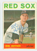 Bob Heffner AUTOGRAPH 1964 Topps Red Sox CARD IS G/VG