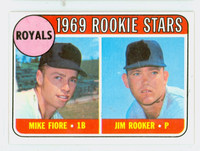 1969 Topps Baseball 376 Royals Rookies Excellent to Excellent Plus