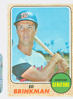 1968 Topps Baseball 49 Ed Brinkman Yellow Letters  Washington Senators Excellent to Mint