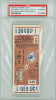 1961 Baltimore Colts Full Ticket vs St. Louis Cardinals Johnny Unitas 246 Yds Passing/TD - Colts 16-0  November 19, 1961 PSA/DNA Authentic
