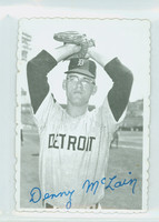 1969 Topps Deckles 8 Denny McLain Detroit Tigers Very Good to Excellent